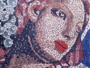 Pittura, mosaico -, - donne-tre-con-codice -913