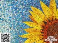 Pittura, mosaico -, - fiori-girasole-codice -917
