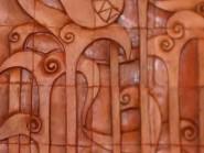 Poterie  , Tuiles sur le murl