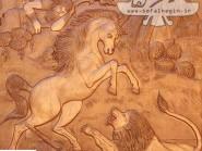 Première épreuve  lutte de Rakhsh avec le lion