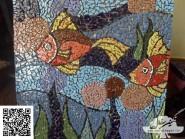 Tile brisé -, - poissons - Code -941