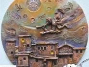 ceramica  ,  Disegno di ceramica sulla parete