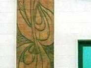 ceramica , design cubista di facciate