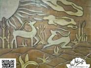 ceramica , disegno cervo
