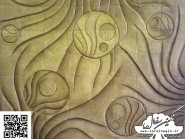 pottery , ceramic Relief , Cubism design