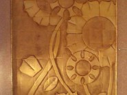 pottery , ceramic Relief , Design Sunflower