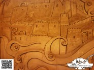 pottery , ceramic Relief , Village layout