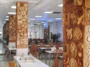 pottery , pottery Relief , Column puzzle design hotel