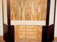 pottery , pottery Relief ,Fireplace Design