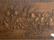کد 101 - سفال نقش برجسته ، نقش برجسته سفالی ، سفال برجسته ، تابلو سفالی ، کتیبه سفالی ، تابلو سفال نقش برجسته ، نقش برجسته سفال