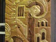 کد 109 - سفال نقش برجسته ، نقش برجسته سفالی ، سفال برجسته ، تابلو سفالی ، کتیبه سفالی ، تابلو سفال نقش برجسته ، نقش برجسته سفال
