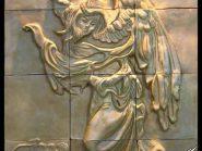 کد 17 - سفال نقش برجسته ، نقش برجسته سفالی ، سفال برجسته ، تابلو سفالی ، کتیبه سفالی
