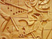 کد 22 - سفال نقش برجسته ، نقش برجسته سفالی ، سفال برجسته ، تابلو سفالی ، کتیبه سفالی