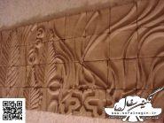 کد 140 - سفال نقش برجسته ، نقش برجسته سفالی ، سفال برجسته ، تابلو سفال، کتیبه سفالی ، تابلو سفال نقش برجسته