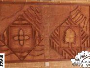 کد 154 - سفال نقش برجسته ، نقش برجسته سفالی ، سفال برجسته ، تابلو سفال، کتیبه سفالی ، تابلو سفال نقش برجسته