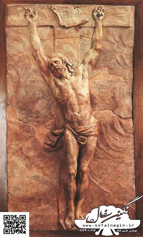 سفال نقش برجسته ، حضرت مسیح
