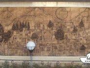 کد 42 - سفال نقش برجسته ، نقش برجسته سفالی ، سفال برجسته ، تابلو سفالی ، کتیبه سفالی ، تابلو سفال نقش برجسته
