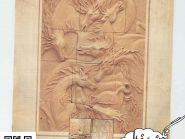 کد 62 - سفال نقش برجسته ، نقش برجسته سفالی ، سفال برجسته ، تابلو سفالی ، کتیبه سفالی ، تابلو سفال نقش برجسته